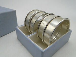 Set of 4 Old Reed & Barton Sterling Silver Napkin Rings in box