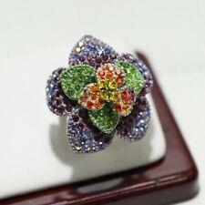 Kirks Folly Flower Crystal Ring - Sz 6