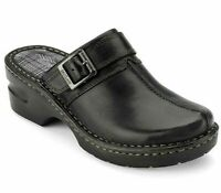 Eastland Women's Mae Leather Clogs Slip On Wedge Mule Casual Comfort Shoes