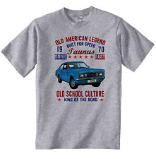 VINTAGE AMERICAN CAR FORD TAUNUS 1970 - NEW COTTON T-SHIRT