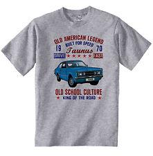 VINTAGE AMERICAN CAR FORD TAUNUS 1970 - NEW COTTON T-SHIRT