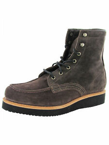 $365 Timberland Mens American Craft Moc Toe Boots, Brown, US 9.5