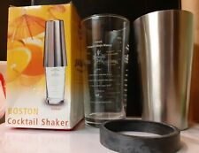 Boston Cocktail Shaker 500ml Two Piece Stainless Steel & Glass (BOXED)
