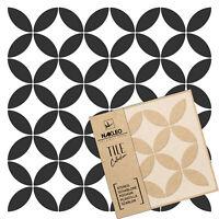 LAVOS Pochoir en PLASTIQUE r/éutilisable pour tuiles //// G/éom/étrique Marocain //// Mur de plancher 10x10cm