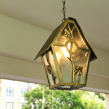 Outdoor Lamp Glass Pendant Light Garden Ceiling Lights Home Chandelier Lighting