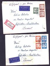 """2 GERMANY COVERS, BUNDES """"FAMOUS PEOPLE"""" 1962"""