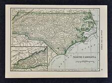 1911 Hammond Map North Carolina Raleigh Charlotte Wilmington Outer Bank Hatteras
