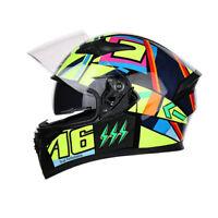 DOT Motorcycle Helmet Full Face w/Dual Sun Visor Motocross Racing M/L/XL/XXL