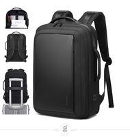 BANGE Men 15.6 inch Laptop Backpack Expandable Travel Bag Waterproof Anti theft