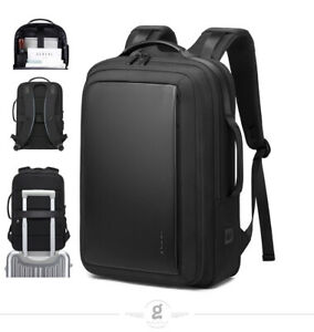BANGE Men 15.6 inch Laptop Backpack Expandable Travel Bag Waterproof Anti theft