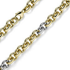 0 1/2in Pea Chain Imagination-Chain Necklace 585 Yellow Gold & White 19 11/16in