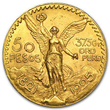 1925 Mexico 50 Pesos Gold Coin - Almost Uncirculated or Better - SKU #31807