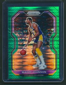 Magic Johnson 2020/21 Prizm #219 #15/25 Green Shimmer
