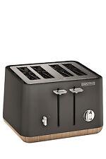 NEW Morphy Richards Scandi Aspects Wood 4 slice toaster:Titanium 240006