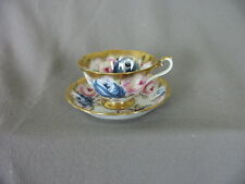 VINTAGE ROYAL ALBERT BONE CHINA CUP & SAUCER SAPPHIRE PATTERN