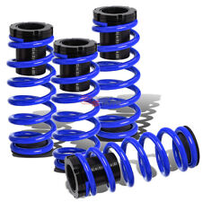 LOWERING SUSPENSION ADJUSTABLE COILOVER+BLUE SPRINGS FOR 85-98 VW GOLF/JETTA