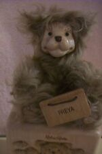 "Robert Raikes Mohair 5""  Bear Freya COA  LE #499/500 Carved wood Box Sign Tag"