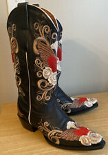 New Gringo Winged Heart Embroidered Cowboy Boots