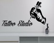 Tattoo Studio Vinyl Wall Stickers Tattoo Salon Wall Decal Removable Window Decor