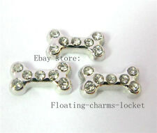 10pcs Crystal Dog Bone Foating Charms for Glass Locket Free Shipping FC051