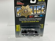 Police Die Cast NOC 1998 Racing Champions #9 1957 Chevy Bel-Air Military Police