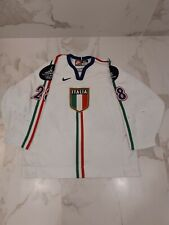 IIHF ITALY GAME WORN USED WHITE JERSEY #28 NOBR 2006 TORINO OLYMPIC PATCHES