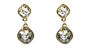Crystal Double Drop Elegant Earrings - NEW
