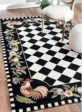 Area Rug Rugs Kitchen Dining Room Floor Farmhouse Carpet Country Rooster Indoor