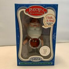Rudolph The Red Nosed Reinderr Talking SANTA 50th Anniversary LE Collectable
