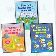 Mairi Mackin's Usborne Very First Reading Phonics Workbook Collection 3 Books