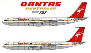 1/144 QANTAS DECALS; Boeing 707-338 Flying Kangaroo 1973