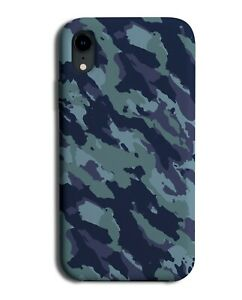 Blue Coloured Camo Print Phone Case Cover Mens Boys Neon Camouflage K795