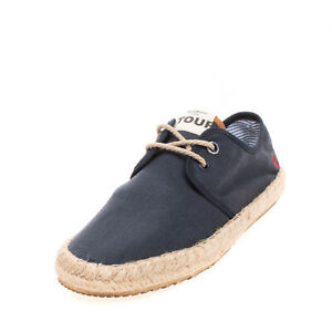 PEPE JEANS Espadrille Flat Shoes EU 40 UK 6 US 7 Embroidered Logo Lace Up