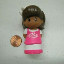 Fisher Price Little People MIA in PINK & WHITE FLORAL JUMPER DRESS Hispanic Girl