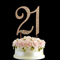 0 - 9 TABLE NUMBERS CAKE TOPPERS gold diamante crystal table decorations wedding