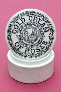 VINTAGE ARMY & NAVY COOP LONDON SAILOR SOLDIER PIC COLD CREAM ROSES POTLID+BASE
