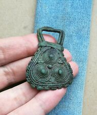 "Ancient Viking Large Bronze pendant AMULET "" SPIRAL "" GREAT SAVE SUPER RARE TYPE"