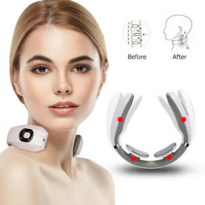 USB Electric Tens Unit Pulse Neck Massager Magnetic Pulse Therapy Vertebra Relax