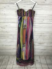 TED BAKER Strapless Maxi Dress - Size 1 UK8 - Multi Stripe - Brand New With Tags
