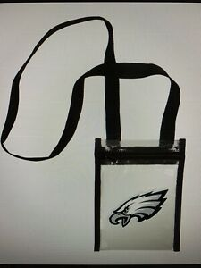 Philadelphia Eagles NFL Women's Clear Crossbody Tote Bag - NWT
