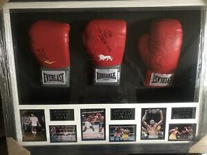 Allstarsignings Thomas Hitman Hearns World Champion signed /& framed Everlast boxing glove with COA /& proof