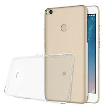 Clear Slim Gel Case and Glass Screen Protector for Xiaomi Mi Max 2