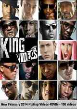 Best HIPHOP RAP & RnB Music Videos, 4 DVDs/100 Videos from FEB 2014!