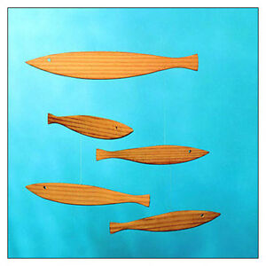 Floating Fish Mobile -- with wood fish, by Christian Flensted & Flensted Mobiles