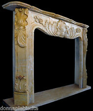 Fireplace Marble Yellow Art & Antique Style Classic Louis XV Frame Fireplace