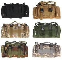 Outdoor Military Tactical Waist Molle Camping Hiking Pouch Chest Bag Backpack