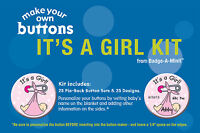 Badge-A-Minit - It's A Girl! Themed Make-Your-Own Button Kit New! #TBK2