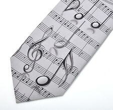 Composer / Musician Silk Tie with Musical Notation Design