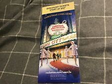 The Rockettes 2019 Radio City Christmas Spectacular Show  Advert-leaflet Unused