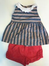 Janie & Jack  Ciao Bella Red Blue  Short Shirt Top Size 18 24 months 2T C14